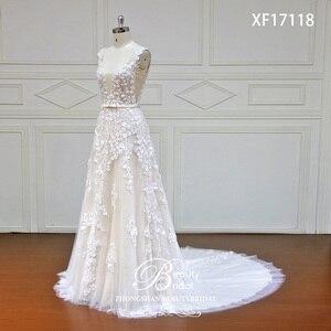 Image 2 - Robe de mariée en dentelle japonaise, avec fleurs sur mesure, avec perles de cristal, robes de mariée bonne qualité, modèle offres spéciales, XF17118