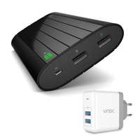 Vinsic 20000mAh Power Bank External Lithium Battery 2 4A Dual USB Port Universal Charger For Iphone