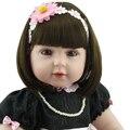 """Новая принцесса девушка кукла reborn 22 """"ткань тела силикона виниловые куклы девушки bebe живые возрождается bonecas лучший дети подарочные"""