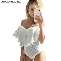 Jyconline summer bodycon lace bodysuit women 2017 off shoulder club party jumpsuit women rompers combinaison shorts.jpg 250x250
