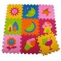 9 Pcs Colorido Teste Padrão da Fruta Enigma Tapete Ecológico Divisão Conjunta Eva jogar Esteiras Para O Bebê Decoração de Casa Mat Para Puzzle Infantil Mat