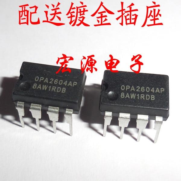 10pcs/lot OPA2604AP OPA2604 2604 DIP-8 In Stock