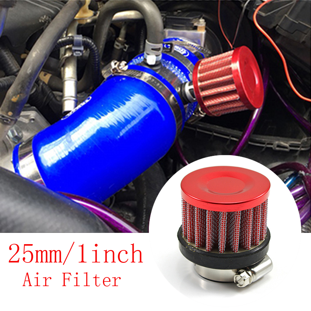 """3.5/"""" Inlet Short Ram Cold Air Intake Filter Round//Cone Universal RED For BMW 3"""