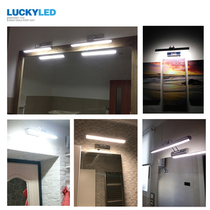 Image 5 - LUCKYLED Modern Wall Lamp Bathroom Lighting 12W 90 260V Wall Mounted Waterproof Led Mirror Light Stainless Steel Wall Sconces