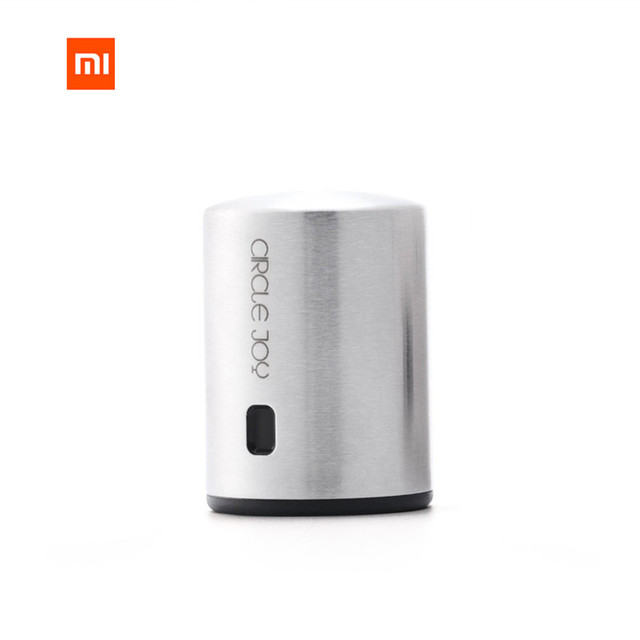 [HOT]Xiaomi Circle Joy Round Stainless Steel Red Wine Mini Plug Wine Stopper Vacuum Efficient Preservation Memory Integration