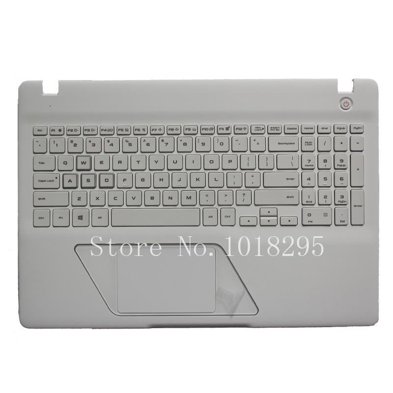 New US Laptop Keyboard for SAMSUNG 8500GM 8500 English Keyboard Shell Palmrest Cover Backlight new for sony vgn fj series laptop us keyboard 147951221 black