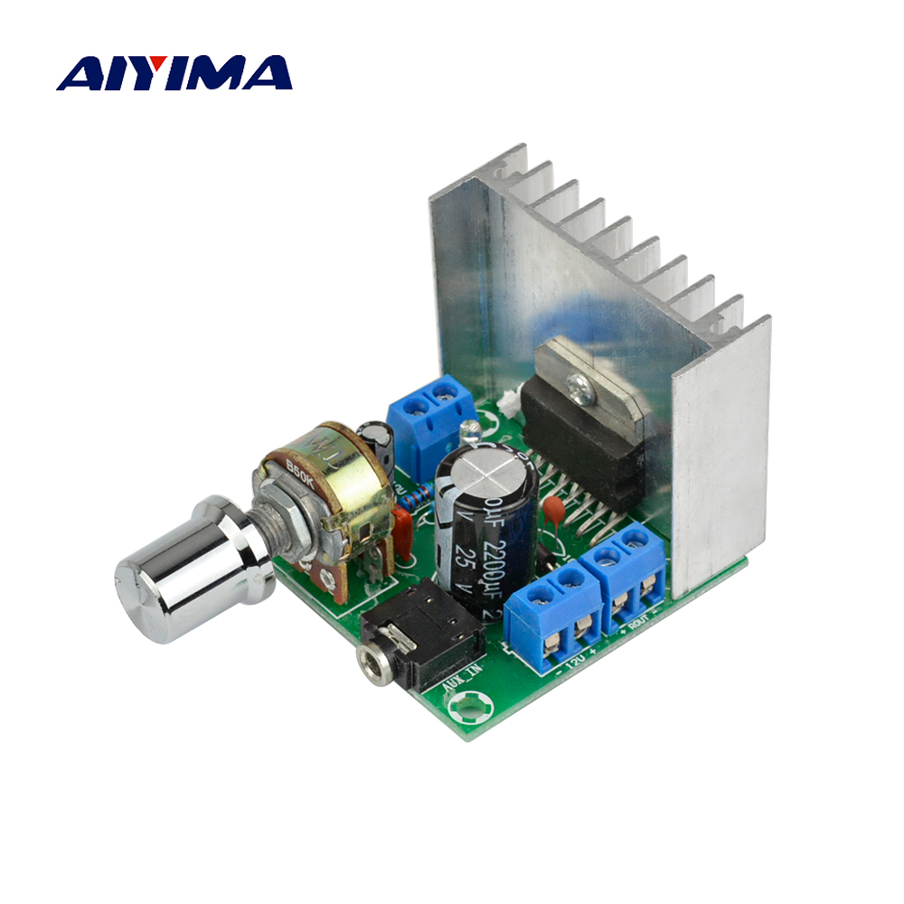 Aiyima TDA7297 Version B 2*15W Digital Audio Amplifier Board Dual Channel DC 12V aiyima hi fi pam8610 audio amplifier board 15w 2 class d dual channel digital amplifier board dc12v