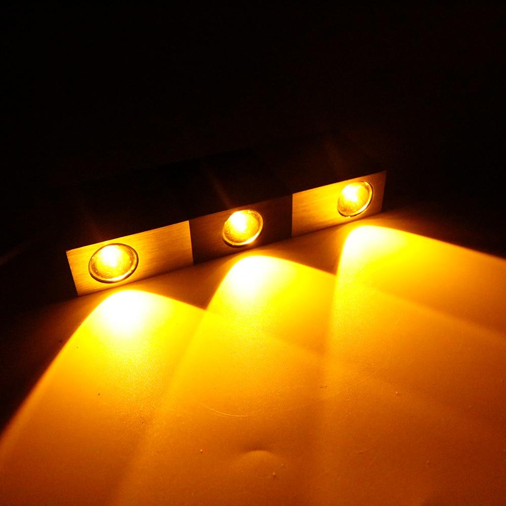 Moderní LED AC85-265V 3W Brick Wall Light Hliníková LED s vysokým výkonem nahoru nebo dolů Nástěnná lampa Spot Light pro dekoraci obývacího pokoje CA
