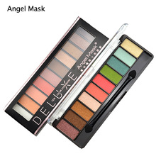 Angel Mask Brand 10 Colors Eye shadow Palette Make up Cosmetics Glitter Eyeshadow Palette Eyeshadow Makeup Set With Brush
