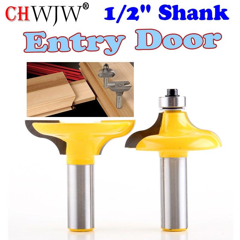 3pcs 12 Shank Door Panel Cutter Tool Woodworking Cabinet Router