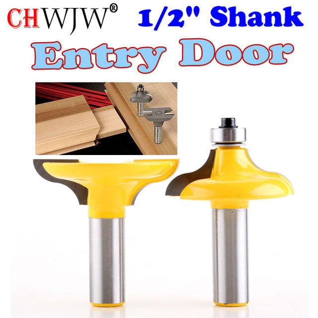 2 Pc 12 Shank Entry Door For Long Tenons Router Bit Woodworking