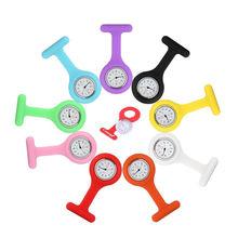 Alta qualidade enfermeira relógio de bolso relógios para meninas silicone enfermeira relógio broche túnica simples e elegante relógio reloj de regalo