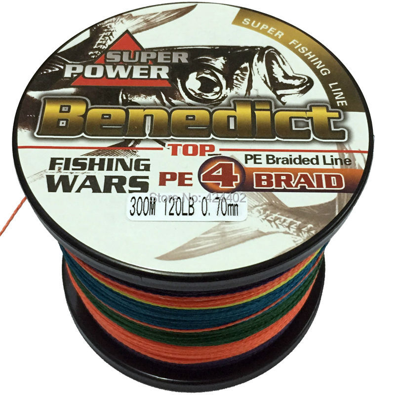 New 300m 120lb supper strong braided fishing line 4 for Strong fishing line