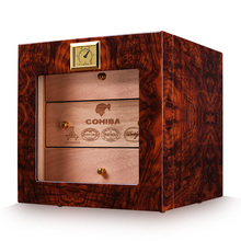 humidor three layers of natural mellow cedar wood large capacity cigar moisturizing box/cabinet ca-0412