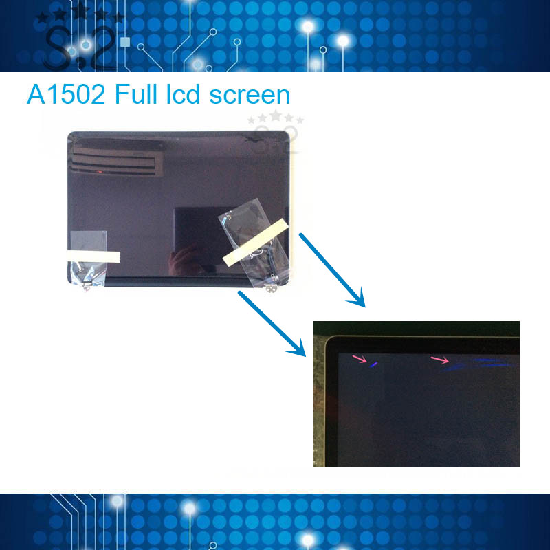 Used Original A1502 LCD Screen Assembly for Macbook Pro Retina 13 Full LCD 2013 2014 2015
