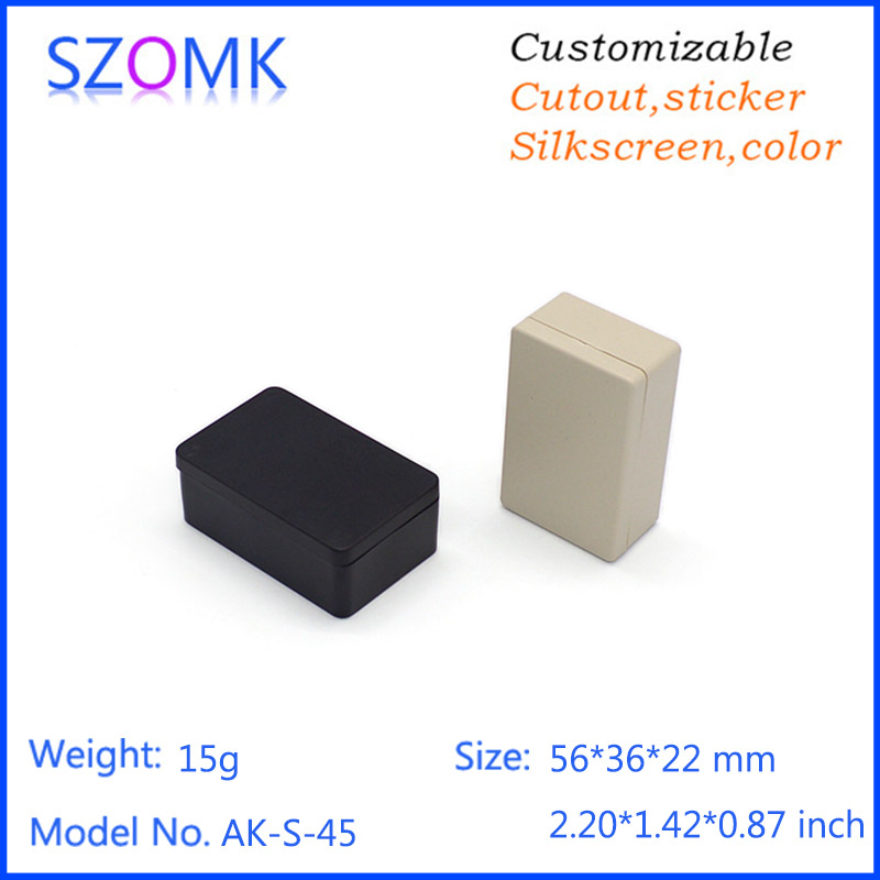 20 pieces a lot, electronic enclosure plastic shell box 56*36*22mm hot sales screw small plastic enclosure housing project box