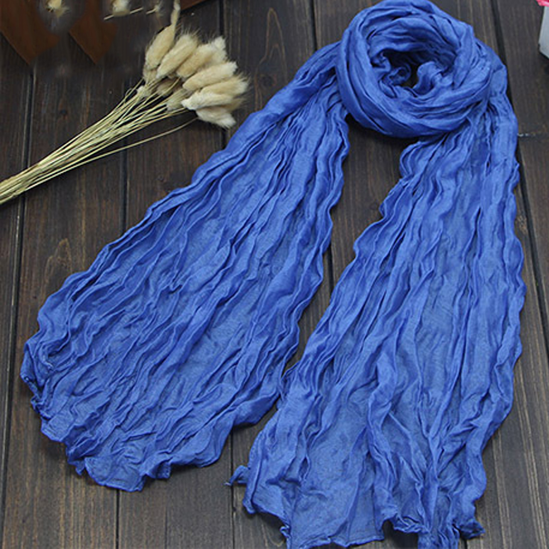Hot Winter Hottest Women Fashion Solid Cotton Voile Warm Soft Silk Scarf Shawl Cape