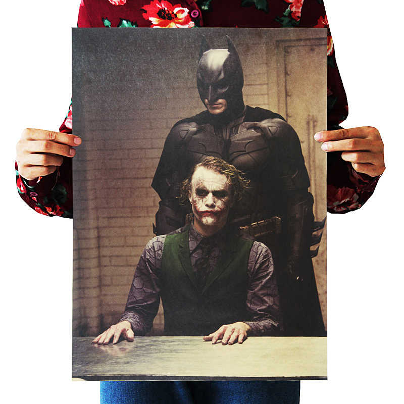 DLKKLB Classic Movie Dark Dawn Knight Vintage Poster Kraft Paper Bar Cafe Western Restaurant Wall Sticker Decorative Painting