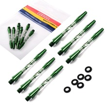 CUESOUL 2 Set Dart Shaft,Green Dart Shaft With Dart O'rings For Darts,Aluminum Dart Shaft