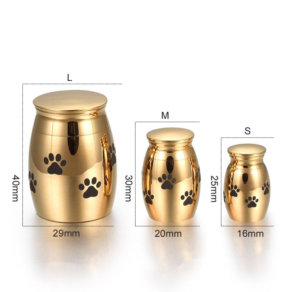 Metal Urn Cremation Ash Holder Mini Keepsake Urn Gift Box Warpped Waterproof
