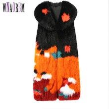 Fashion sale fox fur fabric vest fashion show jacket real fox fur coat leather grass vest young woman coat