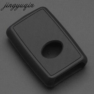 Image 3 - Etui clés de voiture jingyuqin en Silicone carbone pour Toyota Estima Alphard Vellfire 2/3/4/5 boutons à distance