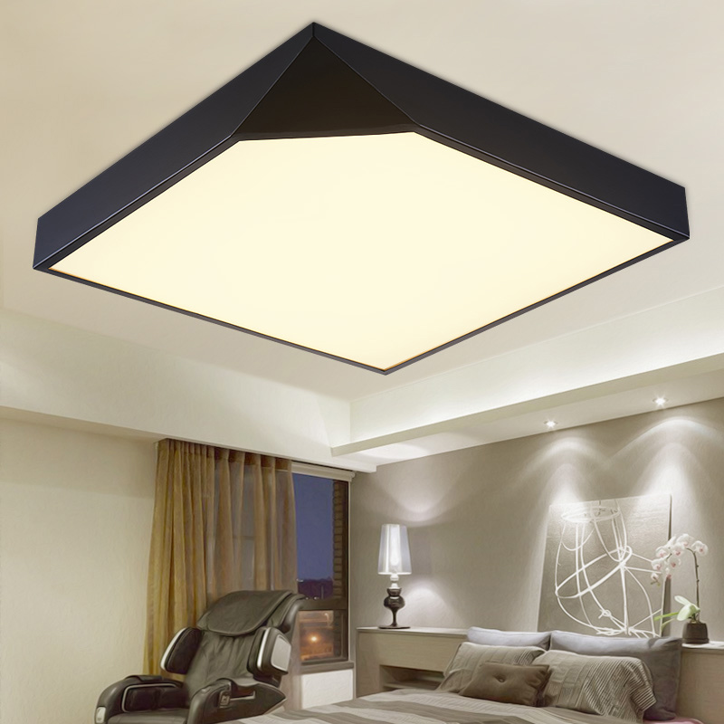 Aliexpress Buy Modern Gold Ceiling Lights Living Room Light Fittings Deckenleuchten Bedroom Acrylic Lamp Lamparas De Techo Lighting Led Lamps From