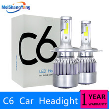 C6 Auto Bulbs LED H7 H4 H11 H1 H3 H8 H9 H13 880 881 9005 9006 HB3 HB4 H27 LED Car Headlight Headlight Bulbs 6000K 8000LM 36W tc x auto led headlight for hyundai getz tb h4 h27 880 h1 high low beam led bulbs foglight auto headlamps 2004 2005 2007 2008