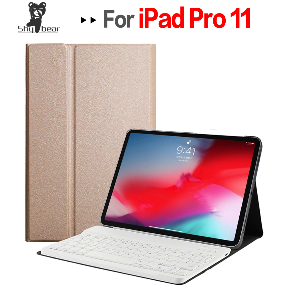 Accessory Cover for New IPad Pro 11 Inch Tablet A1979 2018 Quality Case with Removable Detachable Bluetooth Keyboard