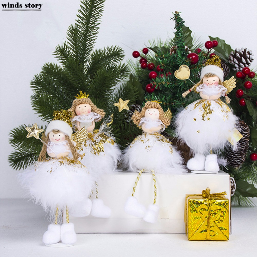 Christmas Tree Decorations Names.New Christmas Angel Doll Toy Christmas Decorations For Home