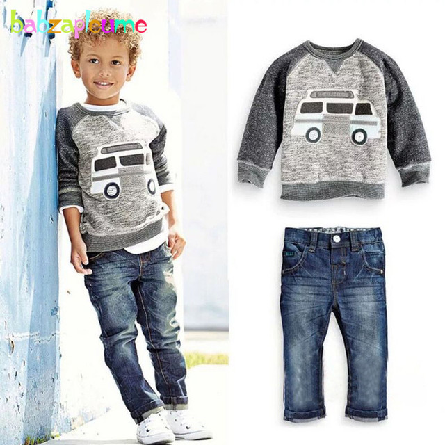 4947596af142 2Piece 1 5Years Spring Autumn Toddler Boys Clothes Cartoon Cute Baby ...