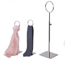 5pcs High quality tie display stand stainess steel necktie silk shelf scarves holder adjustable wig hairpiece purse display rack hot sell metal tie display rack necktie display stand