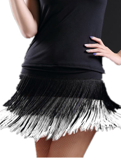 Image 3 - 2019 hot sale Fashion sexy Adult Lady dance dance skirt women's double tassel Latin dance skirt fringed skirts 8 kind colors-in Latin from Novelty & Special Use