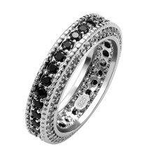 Горячая Распродажа, изысканное кольцо из черного оникса, 925 пробы, серебра, хорошее качество, красивые ювелирные изделия, размер 6, 7, 8, 9, 10, 11, F1554