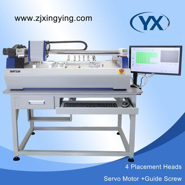 Identify Mark SMT330 PCB/SMT/LED Small Desktop Pick and Place Machine Guide Screw Max 350*450mm Surface Mount System