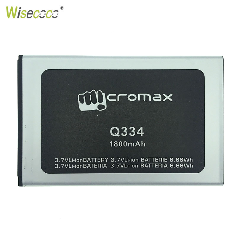 WISECOCO New Original 1800mAh Battery For Micromax Q334 Q 334 Smart Mobile phone In Stock With Tracking Number