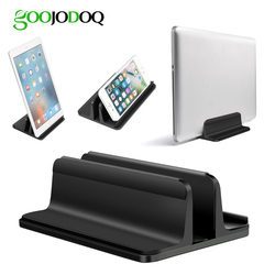 Vertical Laptop Stand for Macbook Air Pro 13 15 Desktop Aluminum Stand with Adjustable Dock Size for Surface Chromebook