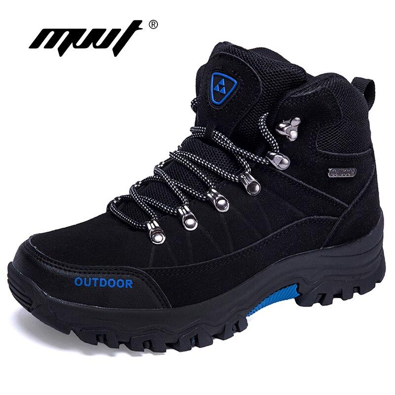 Plus Size 46 Cross Country Desert Boots Men Faux Suede Waterproof Shoes Men Ankle Boots Winter Warm Snow Boots Men Footwear