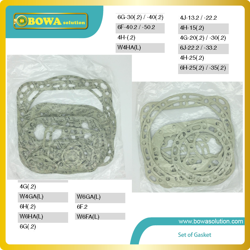 B6 Set of gasket for big 6 cylinders bitzer compressor  excellent spare parts for  6G30.2Y 6F40.2Y etc. купить