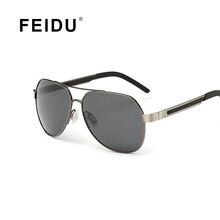9c7071ec50 Feidu piloto gafas de sol polarizadas de moda hombres de la marca marco de  aleación de