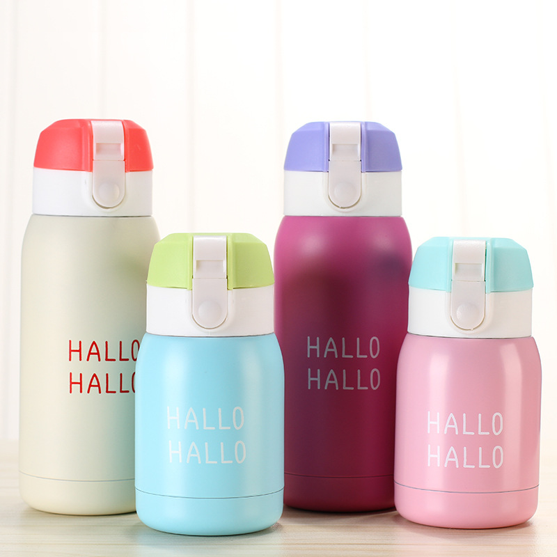 Creative fashion children cute thermos candy color stainless steel Insulated cup outdoor travel student gifts