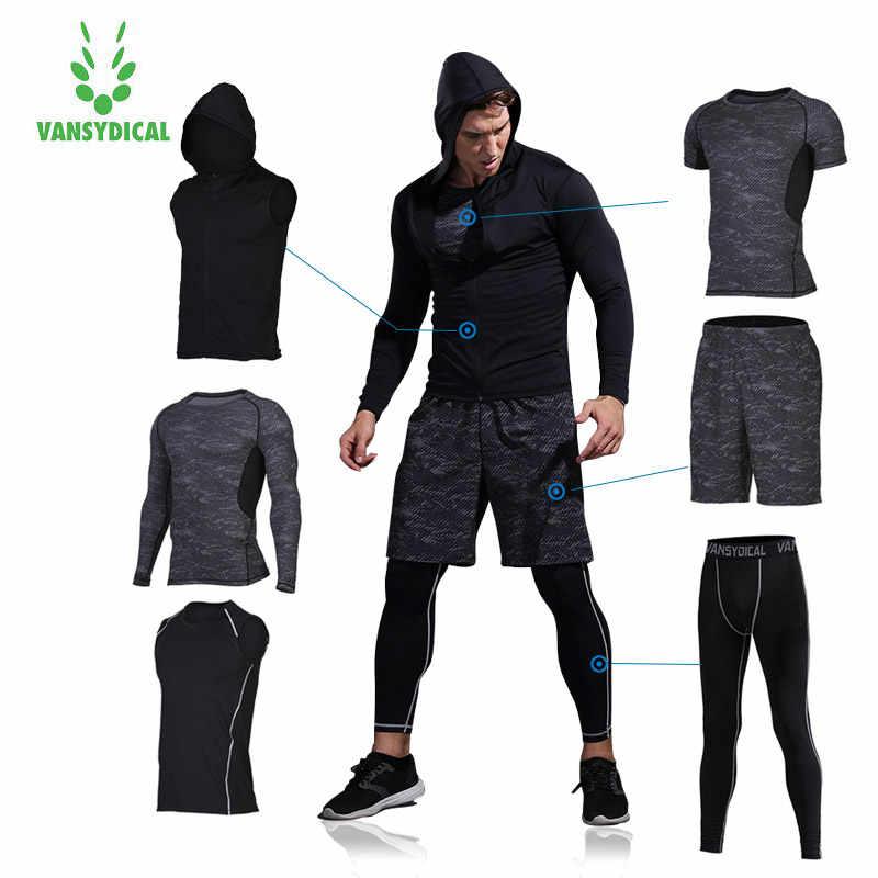60b8d8b9fd75 Vansydical Для мужчин; спортивная одежда тренировочный костюм костюмы для  бега Для мужчин Training устанавливает тренировки