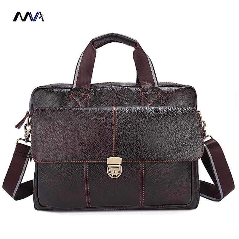 MVA Genuine Leather Men Bags Hot Sale Man Messenger Bag Cowhide Leather Men's Briefcase Male Crossbody Shoulder Handbag цены онлайн