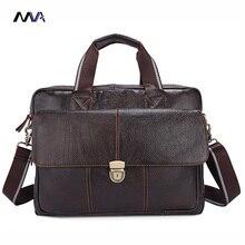 MVA Genuine Leather Men Bags Hot Sale Man Messenger Bag Cowhide Leather Men's Briefcase Male Crossbody Shoulder Handbag