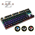 Metoo Backlit Gaming Original Mechanical Keyboard Anti-ghosting 87 LED Wired Keyboard Blue/Red/Black Switches Russian sticker
