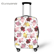 ELVISWORDS Suitcase Protective Cover Cartoon Ice Cream Pattern Elastic Dust-proof Kawaii Design Travel Luggage Accessories