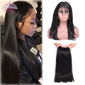360 Lace Frontal With Bundles 7A Brazilian Virgin Hair Straight 4PCS 360 Lace Frontal With Bundle With Baby Hair Soft Human Hair