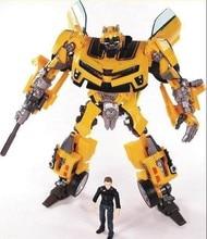 Transformação robô aliança humana bumblebee e sam figuras de ação brinquedos para brinquedos clássicos anime figura dos desenhos animados menino brinquedo