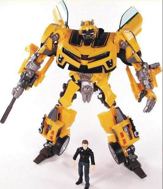 Transformation Robot Human Alliance Bumblebee and Sam Action Figures Toys for classic toys anime figure cartoon boy toy dinosaur transformation plastic robot car action figure fighting vehicle with sound and led light toy model gifts for boy