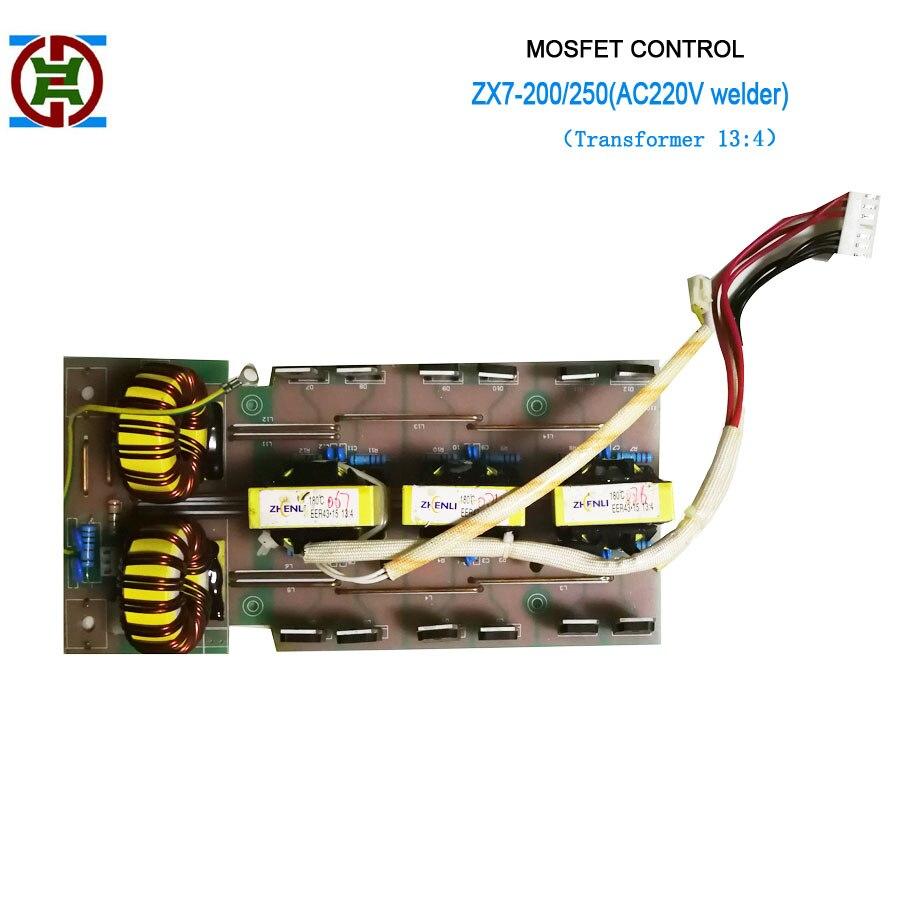 Tube à effet de champ ZX7-200 (220 V) redresseur moyen PCB pour soudeur à onduleur contrôlé par MOSFET